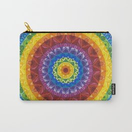 Rainbow Spectrum Mandala Carry-All Pouch