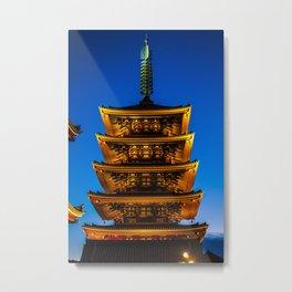 Asakusa Tower Metal Print
