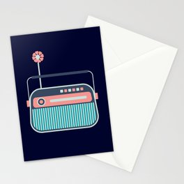 Cute Little Radio Stationery Cards