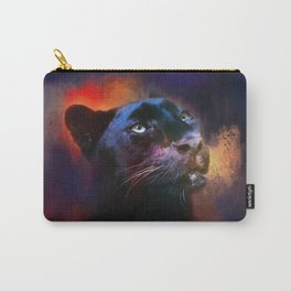 Colorful Expressions Black Leopard Carry-All Pouch