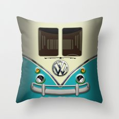 Special Gift for Summer Holiday blue teal minivan minibus iPhone 4 4s 5 5c 6, pillow case and mugs Throw Pillow