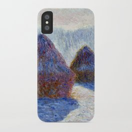 Claude Monet Haystacks in Snow and Sun iPhone Case
