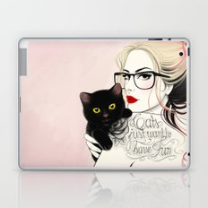 Cats just want to have fun! Laptop & iPad Skin