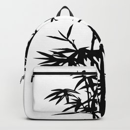 Bamboo Silhouette Black And White Backpack