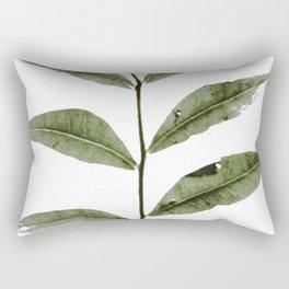 Olive Green Botanical (Color) Rectangular Pillow