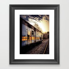 Fading Into The Sunset Framed Art Print