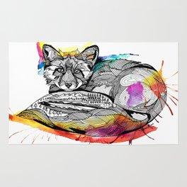 Watercolor Fox  Rug