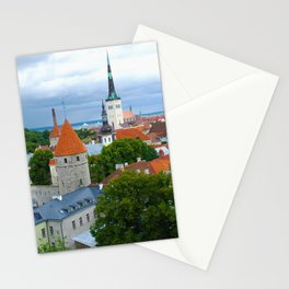 Medieval Towers in Tallinn Estonia Stationery Cards