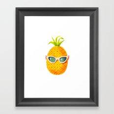Mrs. Pineapple Framed Art Print