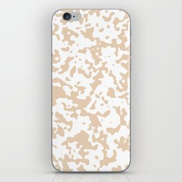 Spots - White and Pastel Brown iPhone Skin