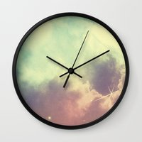 nebula Wall Clocks featuring Nebula 3 by ThoughtCloud