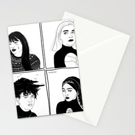 Druck - four mains Stationery Cards