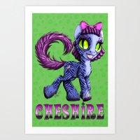 cheshire Art Prints featuring Cheshire by Jolie Bonnette Art