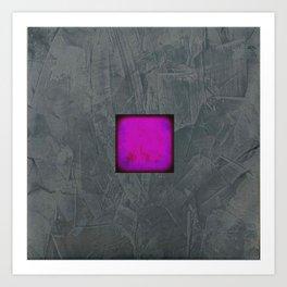 Slate Gray Lavender Fuschia Modern Art Art Print