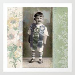 Prize Ribbon Boy Art Print