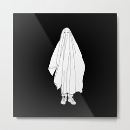 Ghosts 1 / Black Metal Print