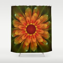 Artistic fantasy succulent flower Shower Curtain