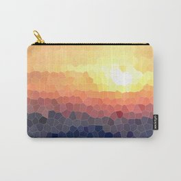 Stained-glass Effect Sunset Carry-All Pouch