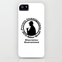 Sherlock Holmes Discretion Guaranteed iPhone Case