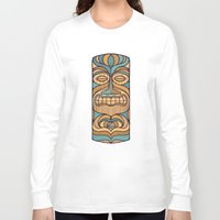 tiki Long Sleeve T-shirts featuring Tiki by Brad Hansen