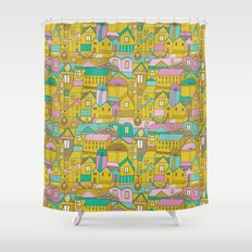 Pattern Project #2 / Happy Town Shower Curtain