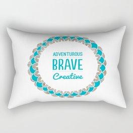 Adventurous Brave Creative Rectangular Pillow