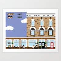 shaun of the dead Art Prints featuring 8bit Shaun Of The Dead by TheRandomFactory