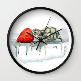 glutton turtle Wall Clock