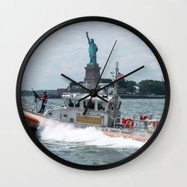 Coast Guard and Liberty Wall Clock