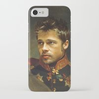 brad pitt iPhone & iPod Cases featuring Brad Pitt - replaceface by replaceface
