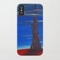dark tower iPhone & iPod Cases featuring The Dark Tower by artJMOB
