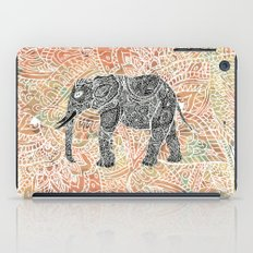 Tribal Paisley Elephant Colorful Henna Floral Pattern iPad Case