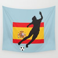 spain Wall Tapestries featuring Spain - WWC by Alrkeaton