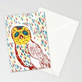Sugar Skull Owl Stationery Cards