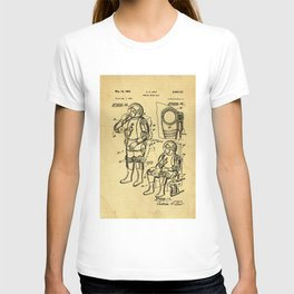 Mobile Space Suit Support Patent Drawing From 1956 T-shirt