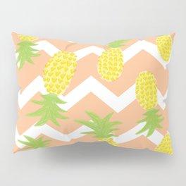 Orange Pinapple Pattern Pillow Sham