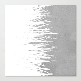 Concrete Fringe White Side Canvas Print