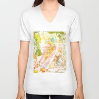 david fleck V-neck T-shirts featuring David by Lanny Quarles