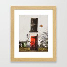 JFK Red Door Framed Art Print