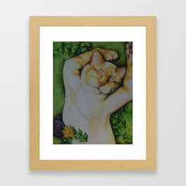 Happy Quiche Framed Art Print