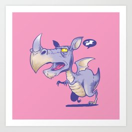 T Rhinosaurus Rex Art Print