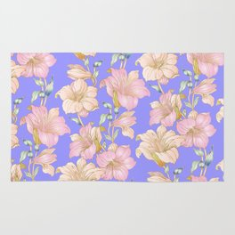 tropical pastels Rug