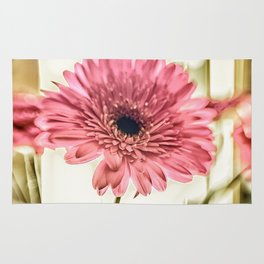 A Daisy for You a bouquet of Gerber Daisies Rug