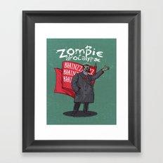 Zombie Lenin Framed Art Print