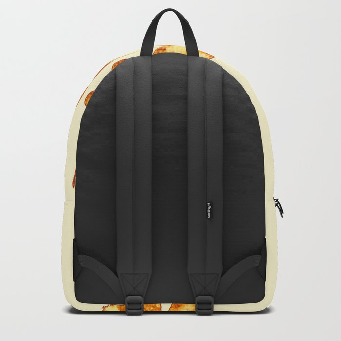 golden clover on cream- pink Backpack