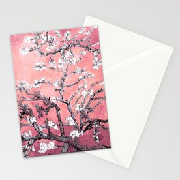 Van Gogh Almond Blossoms : Peachy Pink Stationery Cards