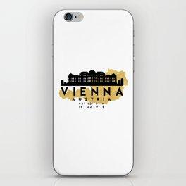 VIENNA AUSTRIA SILHOUETTE SKYLINE MAP ART iPhone Skin