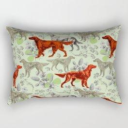 IRISH RED SETTER DOGS & GREEN CLOVER MEADOW Rectangular Pillow