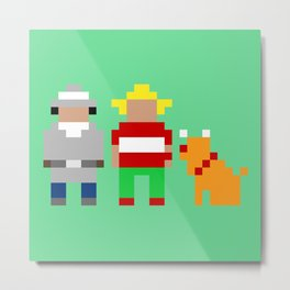 Inspector Gadget, Penny and Brain Metal Print
