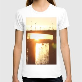 Sunset over the Cambie Bridge T-shirt